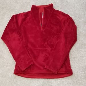 North Face red fleece
